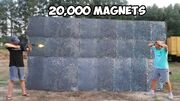 Can 20000 Magets Stop A Bullet Mid Air Thumbnail