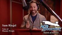 The Voices of Ace Attorney Sam Riegel as Phoenix Wright
