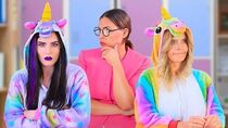 10 DIY Good Unicorn School Supplies vs Bad Unicorn School Supplies Challenge!