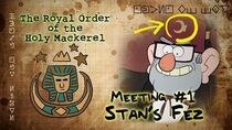 GRUNKLE STAN'S FEZ (GRAVITY FALLS) The Royal Order of the Holy Mackerel