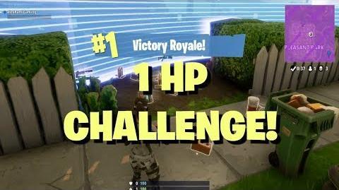 Fortnite Challenge 1 HP