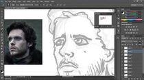 Robb Stark - Vector Drawing Process