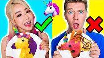 PANCAKE ART CHALLENGE WITH COLLINS KEY! Learn To Make Emojis Out Of DIY Pancake!