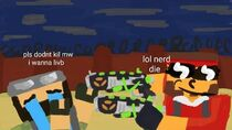Cyberbullying Nerds with Dual Anger in Pixel Gun 3D