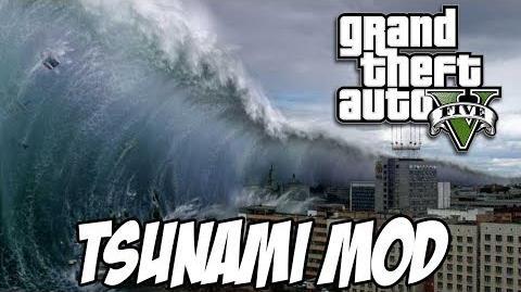 GTA V - TSUNAMI MOD Explorando o Forte Zancudo e matando tubarão na FACA