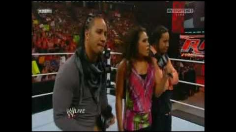 WWE RAW - Tamina and the Uso 's Promo + attack Hart Dynasty again