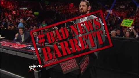 Bad News Barrett makes his debut Raw, Dec. 2, 2013
