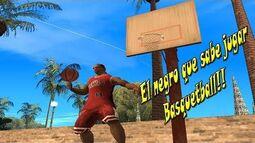 Llego CJ, el negro que sabe jugar Basquetball - Parodia