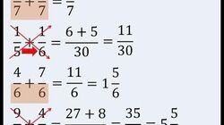 Suma de Fracciones con diferente denominador