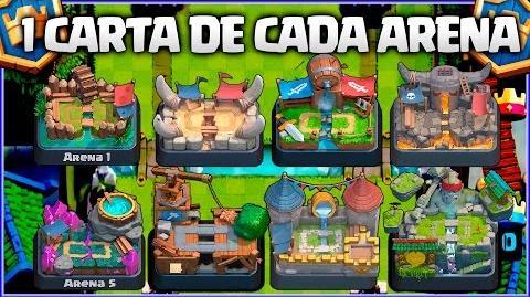 MAZO CON 1️⃣ CARTA DE CADA ARENA👑👑👑 - MAZO MIX 10 - CLASH ROYALE A POR TODAS - Español