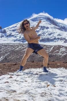 Loco Crespo en el Chimborazo