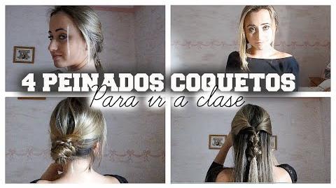 4 Peinados faciles y rapidos para ir guapa todos los días! pelo largo y corto!