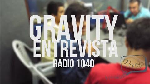 Entrevista gravity en la radio 1040