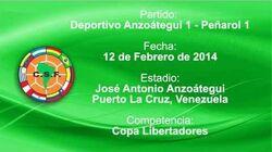 Deportivo Anzoátegui (1) vs Peñarol (1)