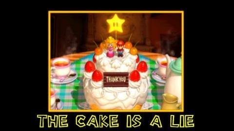 Super mario 64 blooper short- The cake is a lie!