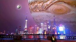 Si los planetas pasaran entre la Tierra y la Luna