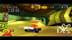 Crash Team Racing, Last level Oxide's final challenge Crash vs Oxide