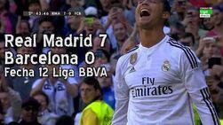 Real Madrid 7 Barcelona - Liga BBVA Fecha 12 (Parodia)