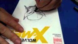 Humberto Ramos dibujando a Wolverine Drawing Wolverine