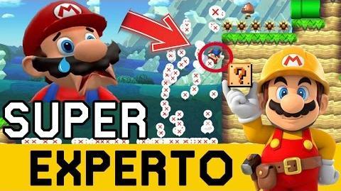 99% IMPOSIBLE en el COMIENZO!!! - SUPER EXPERTO NO SKIP Super Mario Maker - ZetaSSJ-0