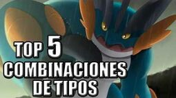 TOP 5 POKÉMON CON MEJORES COMBINACIONES DE TIPOS (Pokémon Rubí Omega Zafiro Alfa)