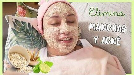 MASCARILLA DE AVENA Y LIMON - Aclara y elimina el acnè en tu rostro