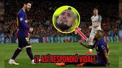 ¡Messi le puso una regañada a Vidal en pleno partido! Y así contestó el Rey Arturo