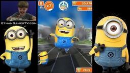 Ethan Gamer's FIRST VIDEO! Despicable Me MINION RUSH!!