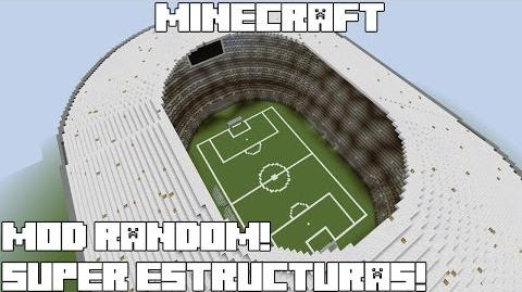 Minecraft MOD RANDOM! SUPER ESTRUCTURAS! Instant Massive Structures Mod Review Español!