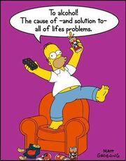 Homer Drinks Duff