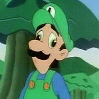 Luigi in his derp face