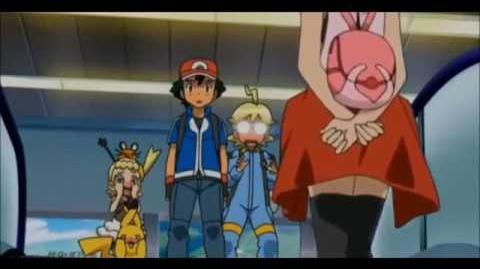 Pokemon Serena Kisses Ash?!?!