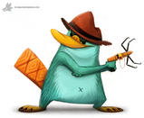 Daily painting 922 perry phineasandferb by cryptid creations-d8vhmgm
