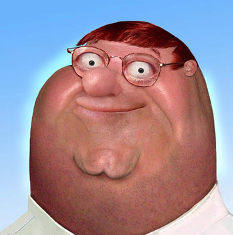 Untooned creepy reallife Peter Griffin