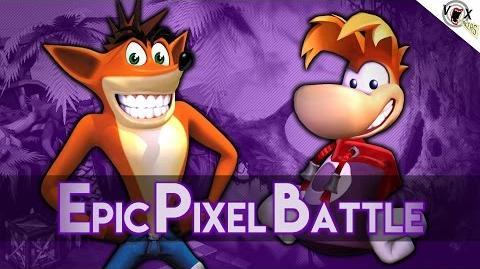 Rayman Vs Crash Bandicoot - Epic Pixel Battle EPB 08