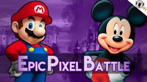 Mario Vs Mickey - Epic Pixel Battle EPB 01 Remastered