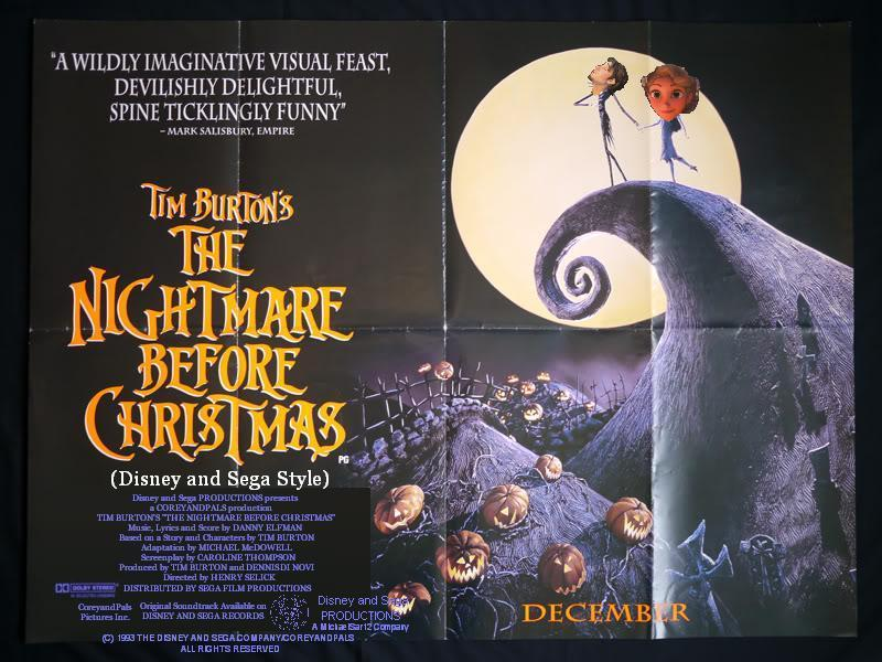 the nightmare before christmas disney and sega style uk posterjpg - Who Directed Nightmare Before Christmas