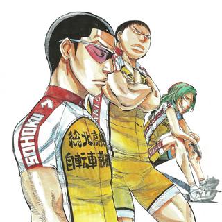 Kinjou with Tadokoro and Makishima.