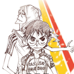 Watanabe's promotional sketch for Yowamushi Pedal: The Movie.