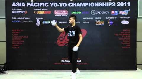 AP11 1A Finals 1st - Christopher Chia(SG) - Asia Pacific Yo-yo Championships 2011