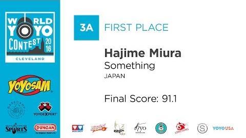 Hajime Miura - 3A - 1st Place - 2016 World YoYo Contest