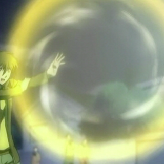 2008 anime only: Akina created a larger sphere and prepares to attack
