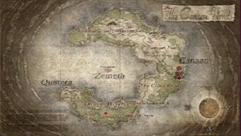 Ys VI Map of Canaan Islands