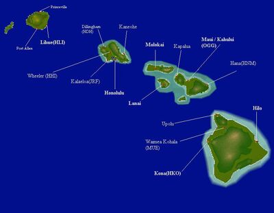 Hawaii-map names-dots