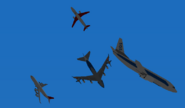 Airliner fight