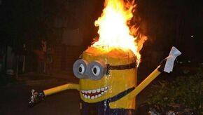 Burning minion