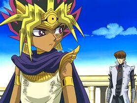 Kaiba and Atem Meet in Memory World