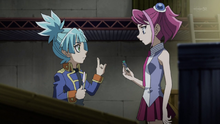 Sora teaching Yuzu the Fusion Summon