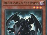 Bébé Dragon aux Yeux Rouges