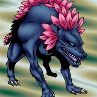 Loup fleuri